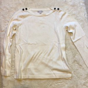 Gap long sleeve white sweater